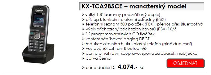 Panasonic - profesionální bezdrátové telefony DECT - standardní, manažerský, odolný