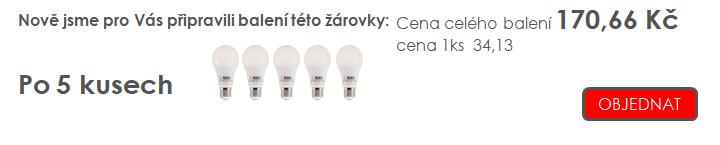 TESLA LIGHTING LED žárovka náhrada klasické 60W žárovky již od 31,- Kč