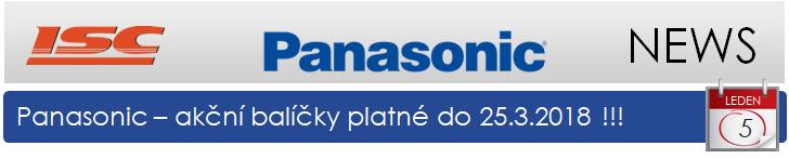 Panasonic: promo balíčky platné do 25.3.2018