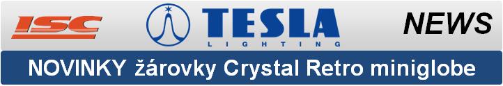 TESLA LIGHTING - nové led žárovky Crystal Retro miniglobe náhrada 40W žárovky