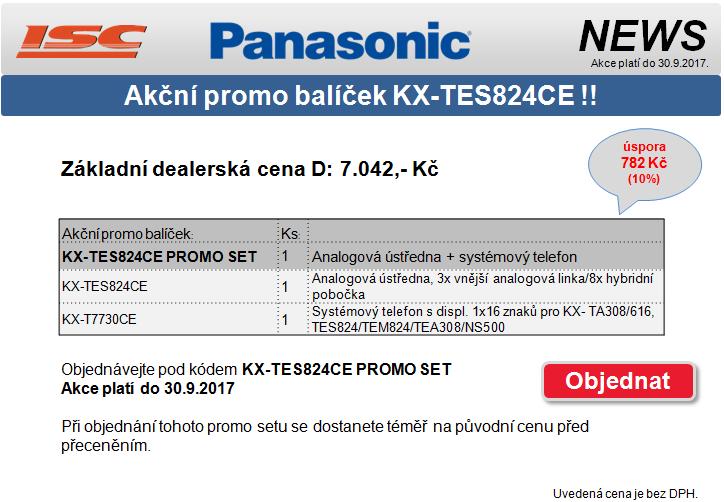 Akční promo balíček KX-TES824CE