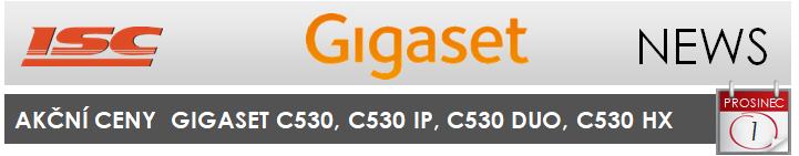 Gigaset - Akční ceny na telefony řady C530 již od 809,- Kč