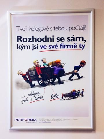 Motivační plakát Performia
