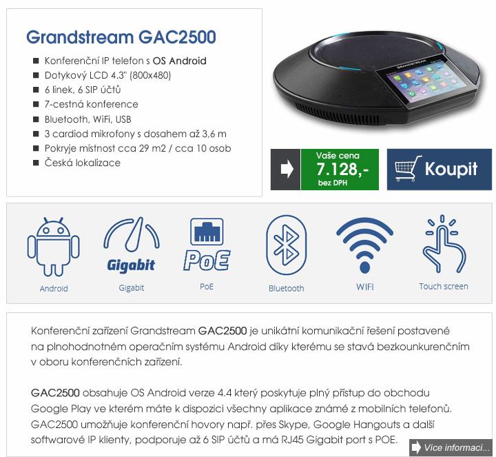 Grandstream - konferenční IP telefon Grandstream GAC2500