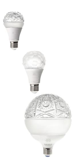 TESLA LIGHTING Unikátní řada LED žárovek z ručně broušeného českého skla BLAZEK GLASS