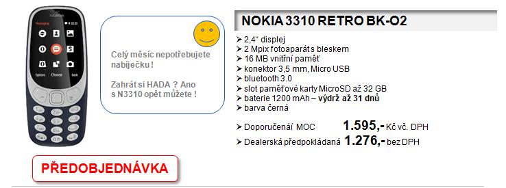 NOKIA - mobilní telefony se vrací. Nové modely, skvělé ceny!  Přijímáme předobjednávky!