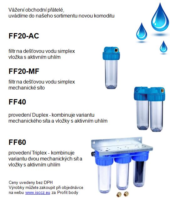 HONEYWELL filtry na dešťovou vodu novinka v sortimentu
